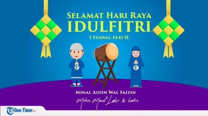 Download Gratis Gif Gambar Bergerak Selamat Hari Raya Idul Fitri 1441 H Kata Kata Ucapan Lebaran Tribun Timur