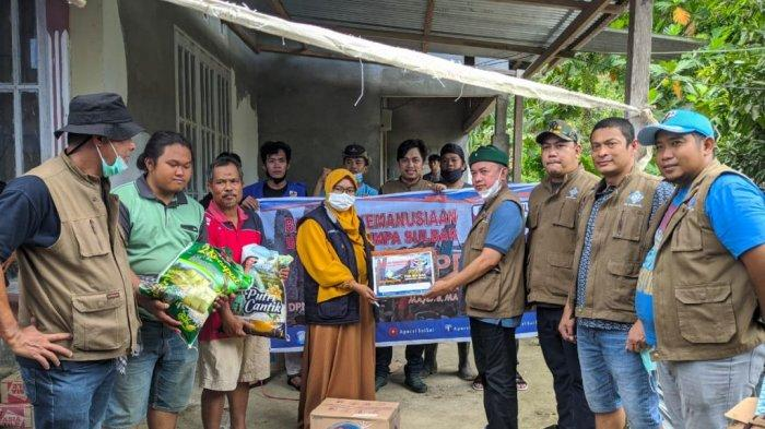 Apersi Sulsel Bagikan Bantuan Senilai Rp 117 Juta ke Korban Gempa Majene dan Mamuju Sulbar