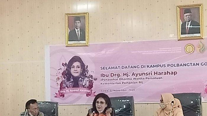 drg Ayunsri Harahap: Dharma Wanita Polbangtan Gowa Harus Diisi Pembinaan Kegiatan Pertanian & Baksos