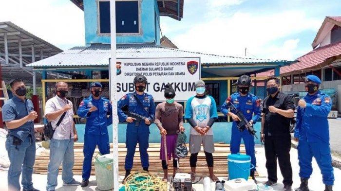 Sempat Kejar-kejaran Aparat di Laut, Dua Nelayan di Mamuju Berhasil Ditangkap Usai Bom Ikan