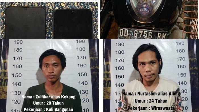 Begal Ponsel Penumpangnya, 2 Oknum Driver Ojol di Makassar Dibekuk