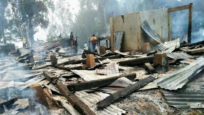 2 Rumah dan 5 Lumbung Padi di Balusu Toraja Utara Ludes Terbakar