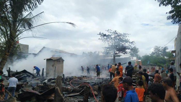 Pemilik Berangkat ke Kebun, Dua Rumah Ludes Terbakar di Bantaeng
