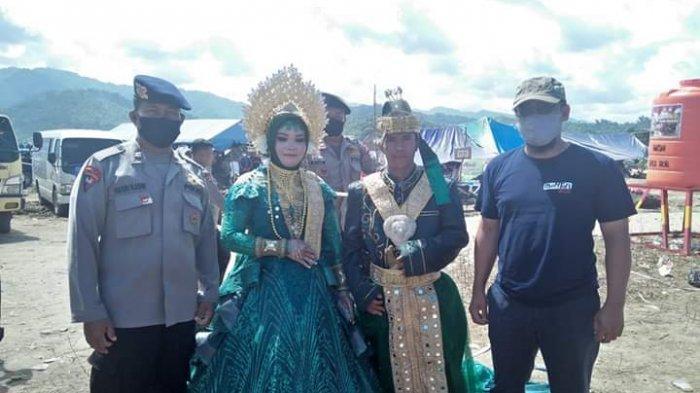 Warga Desa Meli Luwu Utara Menikah di Lokasi Pengungsian