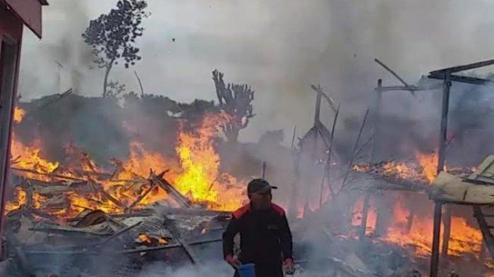 Dua Rumah Hangus Terbakar di Dusun Bontoa Jeneponto