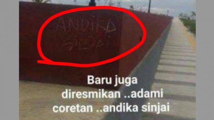 Viral Foto Andika Sinjai Coret Pedestrian Tanjung Bira Bulukumba