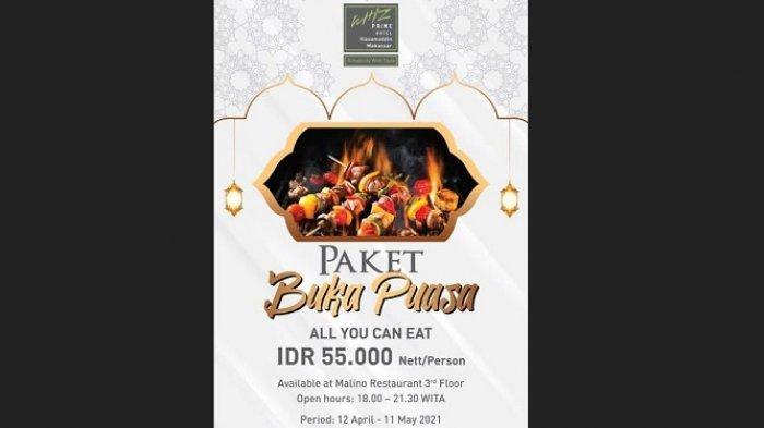 Paket Buka Puasa All You Can Eat Rp 55.000 di Whiz Prime Hasanuddin, Ada Menu Barbeque-nya Juga