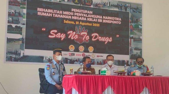 Enam Bulan 278 Tahanan Narkoba Ikuti Rehabilitasi Medis di Rutan Jeneponto