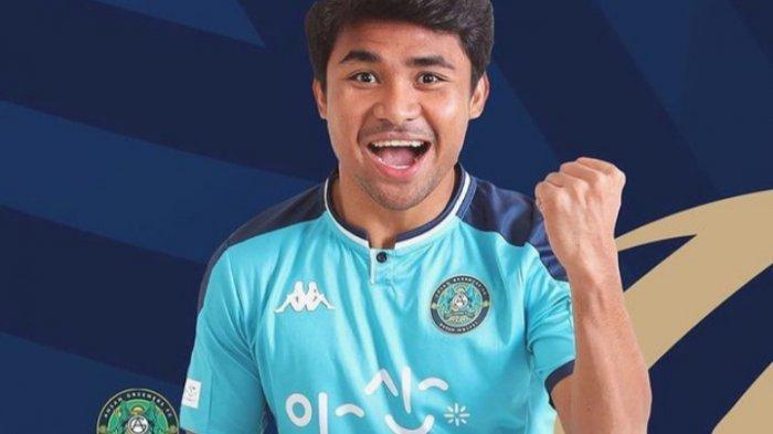 Bahar Muharram Bersyukur Asnawi Mangkualam Jadi Pemain Terbaik K-League 2 Bulan April