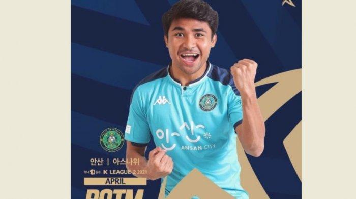 Eks PSM Asnawi Mangkualam Jadi Pemain Terbaik K-League 2 Bulan April