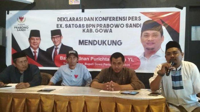 Pilkada Gowa 2020, Eks Satgas BPN Ajak Pendukung Prabowo-Sandi Dukung Adnan IYL