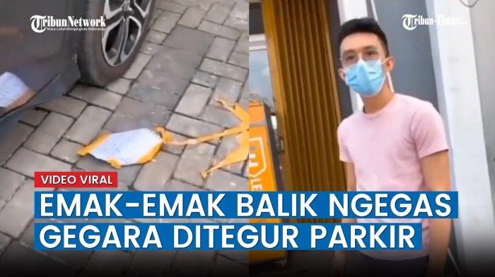 VIDEO Viral Emak-emak Parkir Sembarangan di Depan Ruko Orang, Malah Balik Marahi Pemilik Ruko