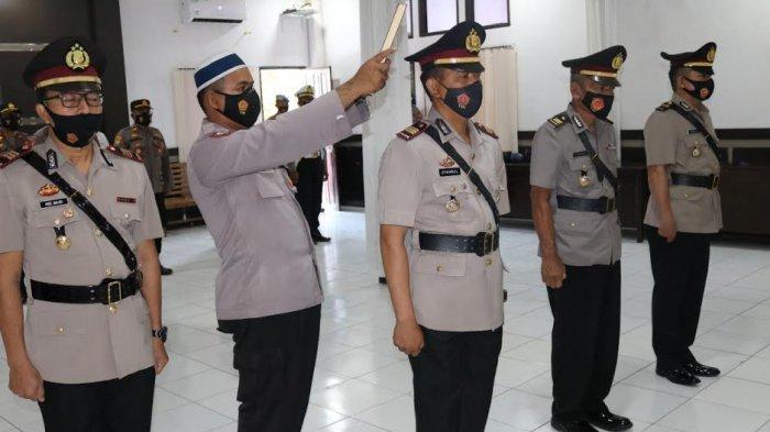 Empat Personel Polres Jeneponto Resmi Berganti, Iptu Baharuddin Jadi Kapolsek Binamu