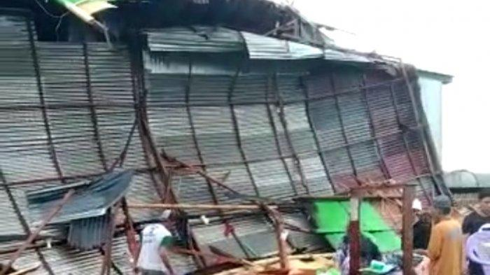 Diterjang Angin Puting Beliung, 4 Rumah Rusak di Jl Andi Johan Pinrang