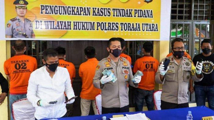 Enam Anggota BNN Gadungan Ditangkap Reskrim Polres Toraja Utara, Peras Korban Rp100 Juta