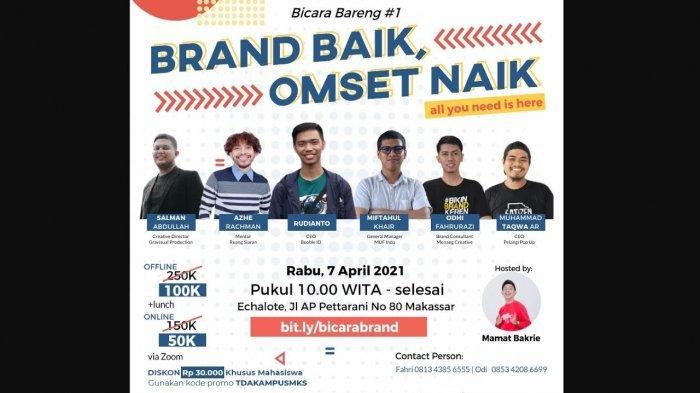 Kolaborasi, UMKM Makassar Bicara Bareng Soal Brand