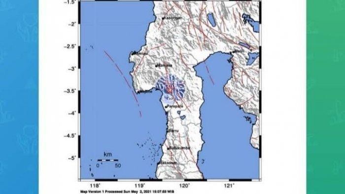 Empat Hari, Kabupaten Enrekang Dua Kali Diguncang Gempa