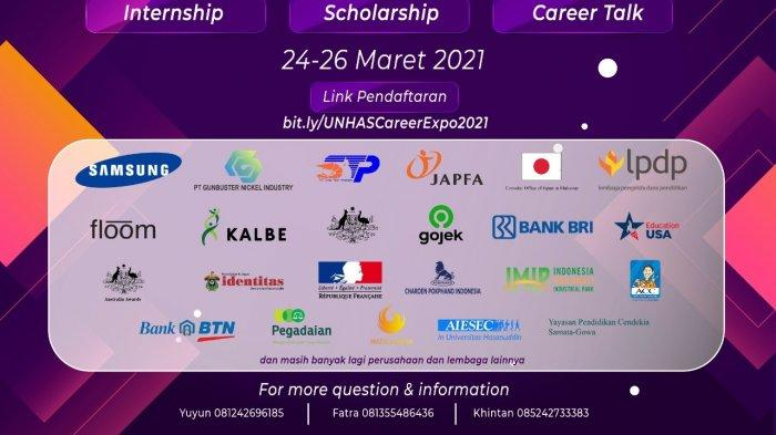 Cari Lowongan Kerja hingga Beasiswa, Kunjungi Unhas Career Expo 2021 via Virtual, Ini 18 Pesertanya? - event-unhas-career-expo-2021-digelar-direktorat-alumni-dan-penyiapan-karier.jpg