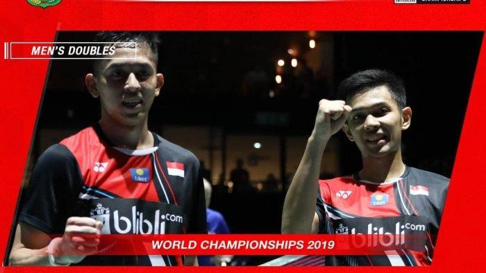 Balas Kekalahan Marcus/Kevin, Fajar/Rian Susul Ahsan/Hendra ke Semifinal Kejuaraan Dunia BWF 2019