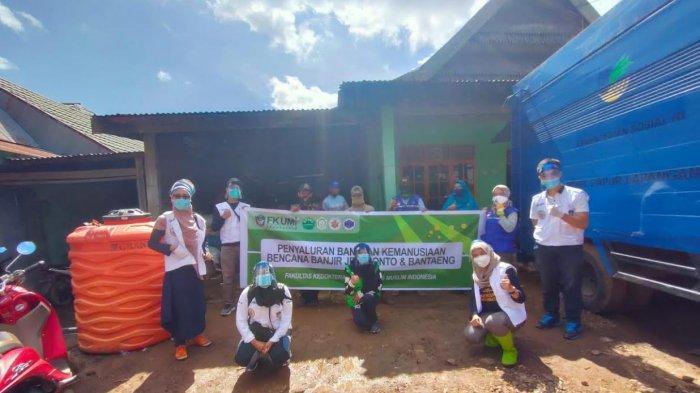 TBM FK UMI Salurkan Bantuan kepada Korban Bencana Jeneponto