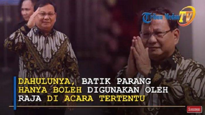 FANTASTIS Segini Harga Batik Parang yang Dipakai Menhan Prabowo Subianto di Online Shop