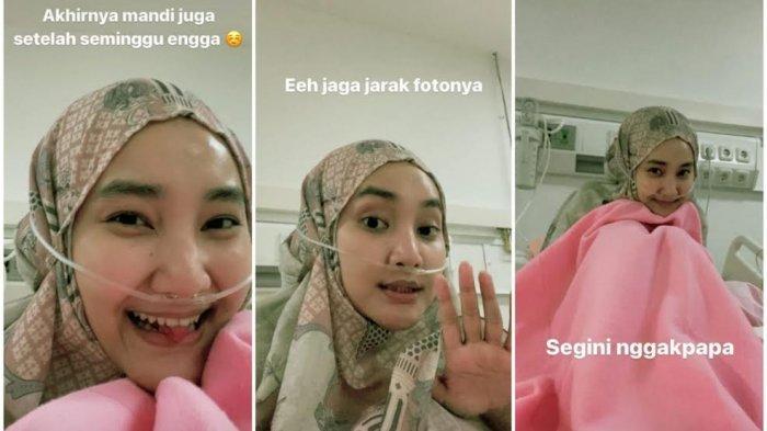 Potret Fatin Shidqia Pakai Alat Bantu Pernafasan Karena Positif Covid-19, Lebaran di Wisma Atlet