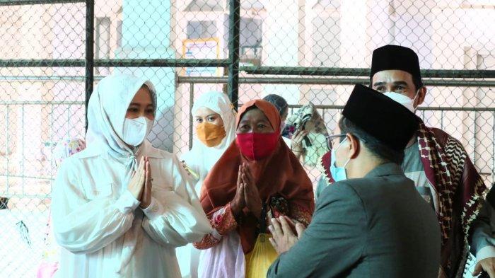 Wawali Makassar Fatmawati Rusdi Lebaran Tanpa Suami, Usai Salat Id Sambangi Kediaman Pribadi Danny