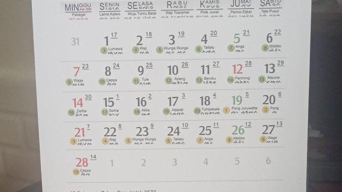 7 Februari 2021, Kalender Bugis Makassar dan Kalender Jawa Menyebut Hari Ini Wage, 5 Hari Lagi Imlek