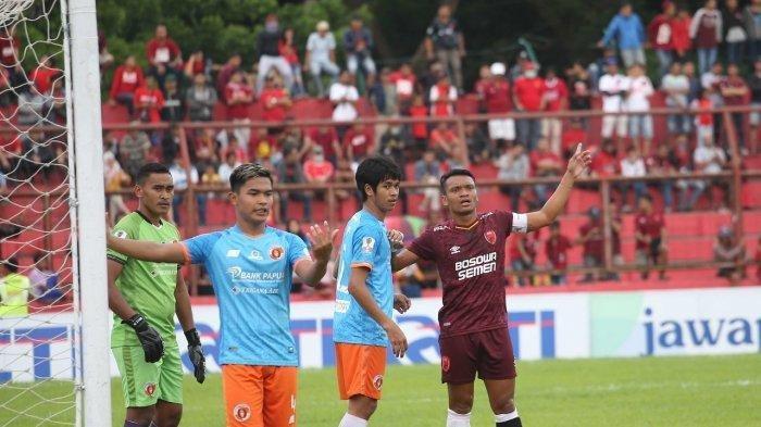 Ferdinand Sinaga saat laga leg kedua babak 16 besar Piala Indonesia 2019 PSM vs Perseru Serui.