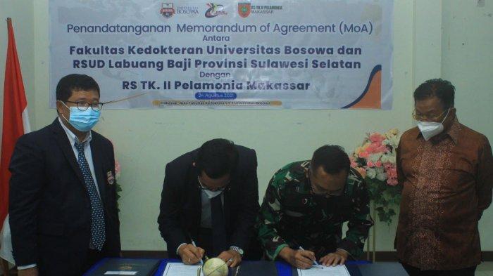 Fakultas Kedokteran Unibos Jalin Kerjasama dengan RS Labuang Baji dan RS Pelamonia