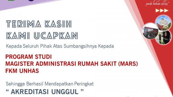 Pertama di Indonesia, Program Studi MARS FKM UnhasRaih Akreditasi Unggul dari LAM-PTKes