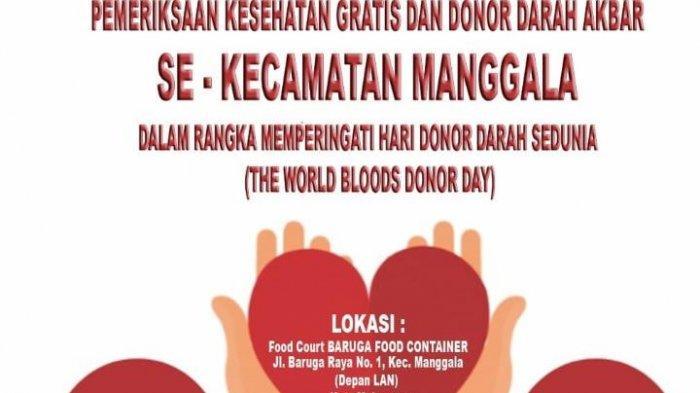 PMI Kecamatan Manggala Akan Menggelar Donor Darah dan Pemeriksaan Kesehatan Gratis Tanggal 13 Juni
