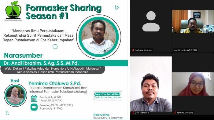 Formaster Sulselbar Malang Gelar Sharing Season, Bahas Realitas & Masa Depan Perpustakaan Indonesia