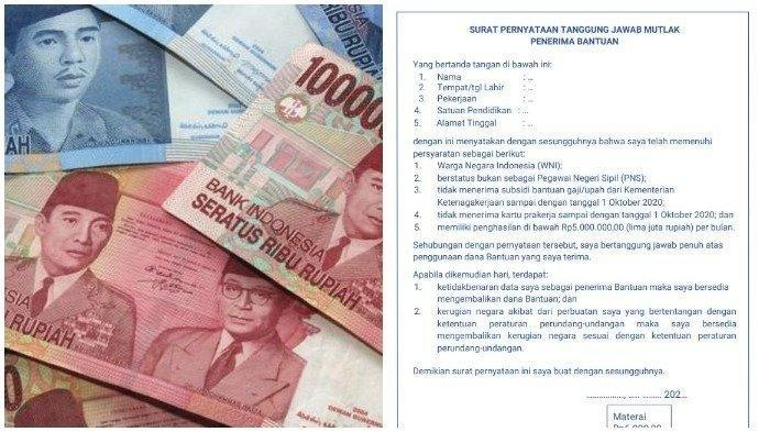 Syarat Agar BLT Guru Honorer Bisa Cair dan Contoh Format SPTJM BSU, Login info.gtk.kemdikbud.go.id