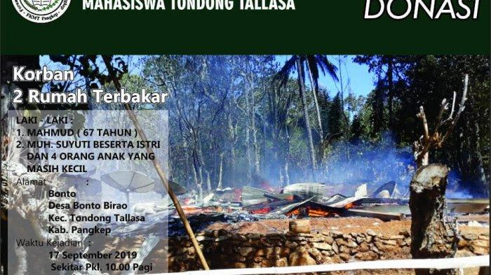 FKMT Pangkep Galang Dana untuk Korban Kebakaran di Bonto Birao