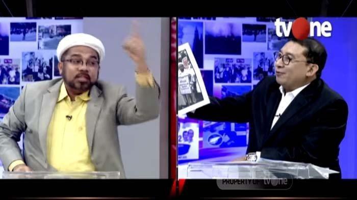 Foto Ali Ngabalin Demo Ahok Pemecah NKRI Diperlihatkan Fadli Zon di TV, 'Kau Membenci Saya'