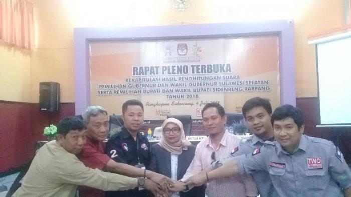 Rekapitulasi KPU Rampung, Prof Andalan Raih 70.457 Suara di Sidrap
