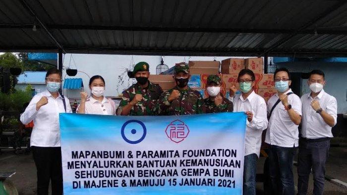 Mapanbumi dan Paramita Foundation Sulsel Serahkan Bantuan untuk Sulbar