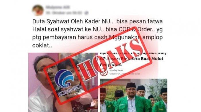 Info hoax tentang Foto Gus Yaqut peluk wanita disebut duta syahwat