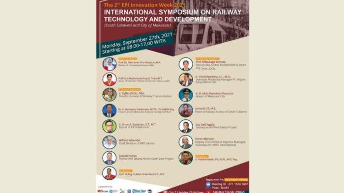 Gelar Simposium Internasional, Fakultas Teknik Unhas Bahas Teknologi Perkembangan Perkeretaapian