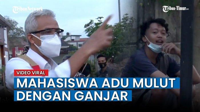 VIDEO Viral Gubernur Jawa Tengah Ganjar Pranowo Debat Sengit dengan Mahasiswa Terpapar Covid-19