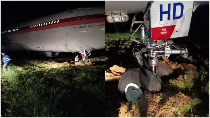 Pesawat Garuda di Bandara Hasanuddin Keluar Landasan, 14 Penumpang Batal Berangkat