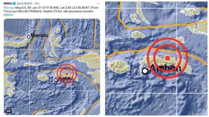 BMKG: Gempa Bumi 5,4 SR di Maluku Tak Berpotensi Tsunami, Tips Selamatkan Dri