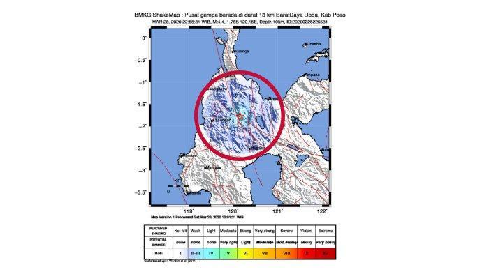 Usai Sigi, Gempa Bumi 4,4 SR di Poso Sulawesi Tengah ( Sulteng ), Doa Dibaca, Tips Selamatkan Diri