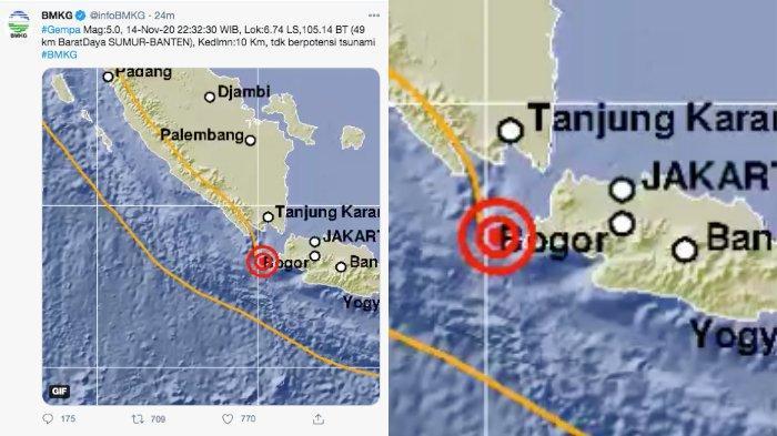 Bmkg Terkini Gempa Banten Hari Ini 5 0 Sr Tak Berpotensi Tsunami Tips Selamatkan Diri Tribun Timur