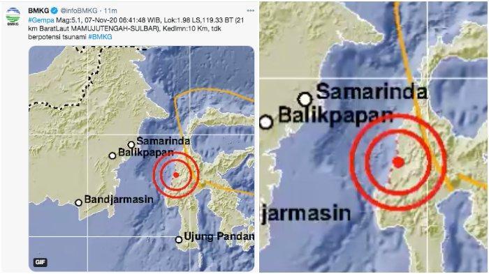 BMKG: Gempa Bumi 5,1 SR di Mamuju Tengah Sulawesi Barat Sulbar, Tips Selamatkan Diri