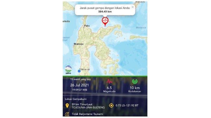 Rasakan Getaran Gempa 6.5 Magnitudo di Tojouna-una Sulteng, Warga Luwu Timur Ikut Panik