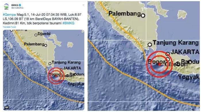 Tag Doa Saat Gempa Bumi Bmkg Gempa Bumi 5 1 Sr Di Banten Tak Berpotensi Tsunami Tips Selamatkan Diri Dan Doa Dibaca Tribun Timur