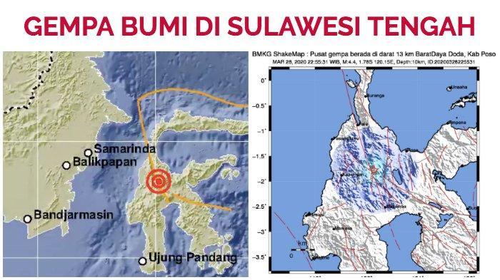 BMKG: Gempa Bumi 5,8 SR di Sigi Sulteng, Terasa di Sulbar dan Sulsel, Tak Berpotensi Tsunami