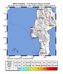 Malam Ini Majene Kembali Diguncang Gempa 3,4 SR, BMKG Imbau Masyarakat Tetap Tenang